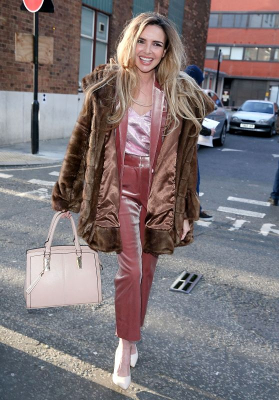 Nadine Coyle at the AOL Building in London