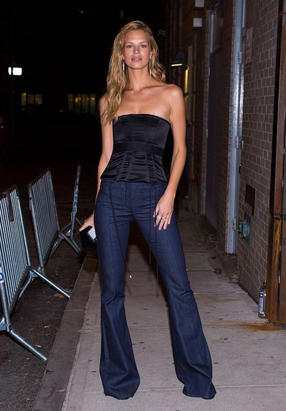 Nadine Leopold Loking Stylish Out in Tribeca in NYC