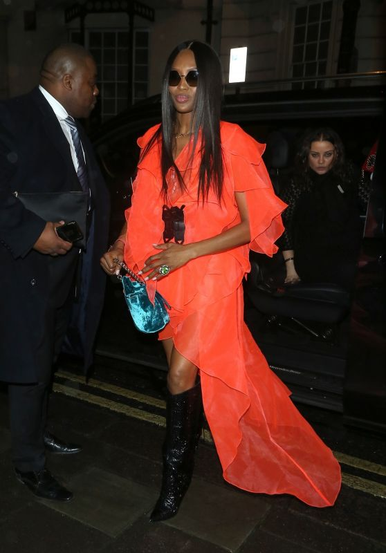 Naomi Campbell Night Out Style - Leave MNKY HSE in London