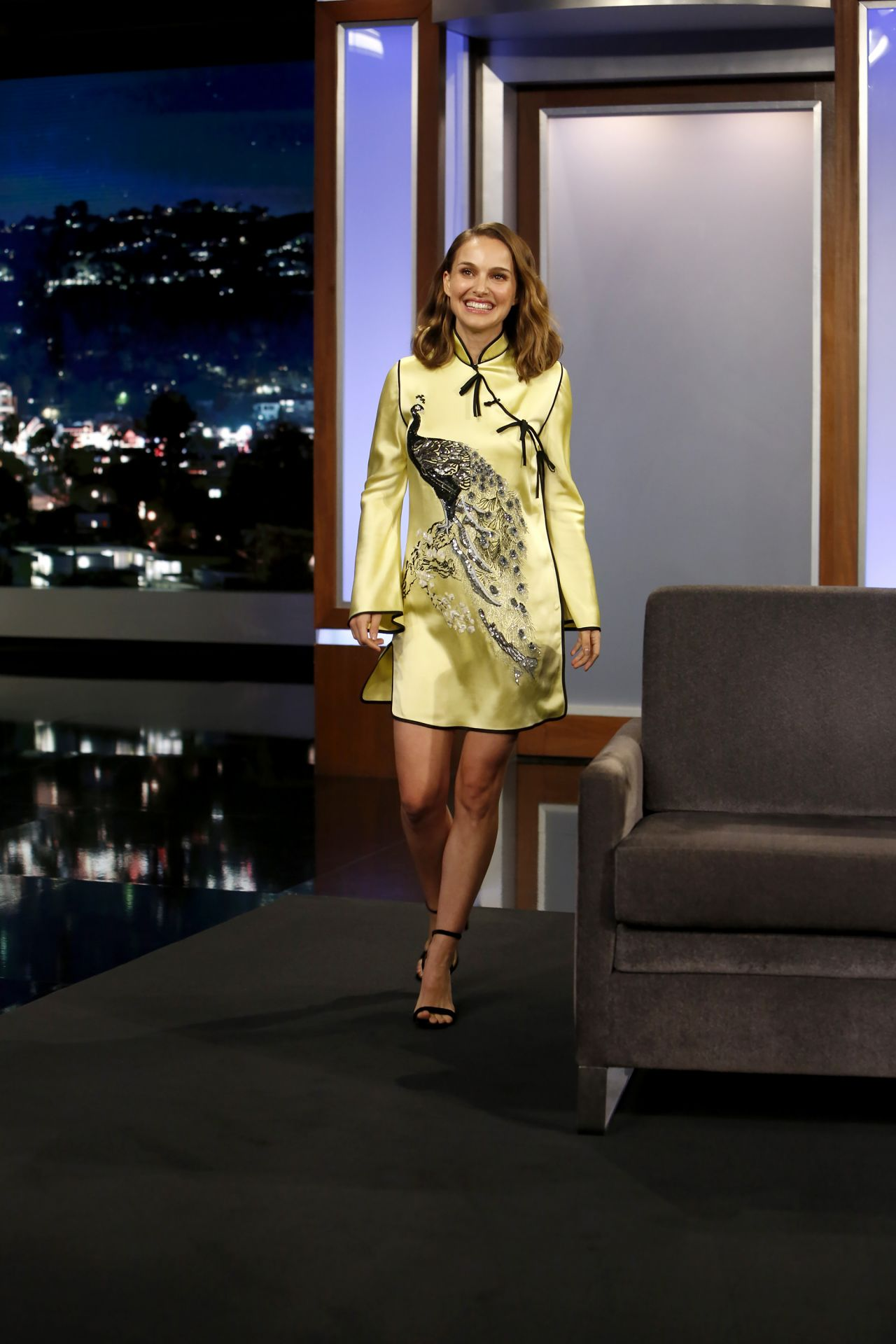 Natalie Portman Appeared On Jimmy Kimmel Live In Los Angeles