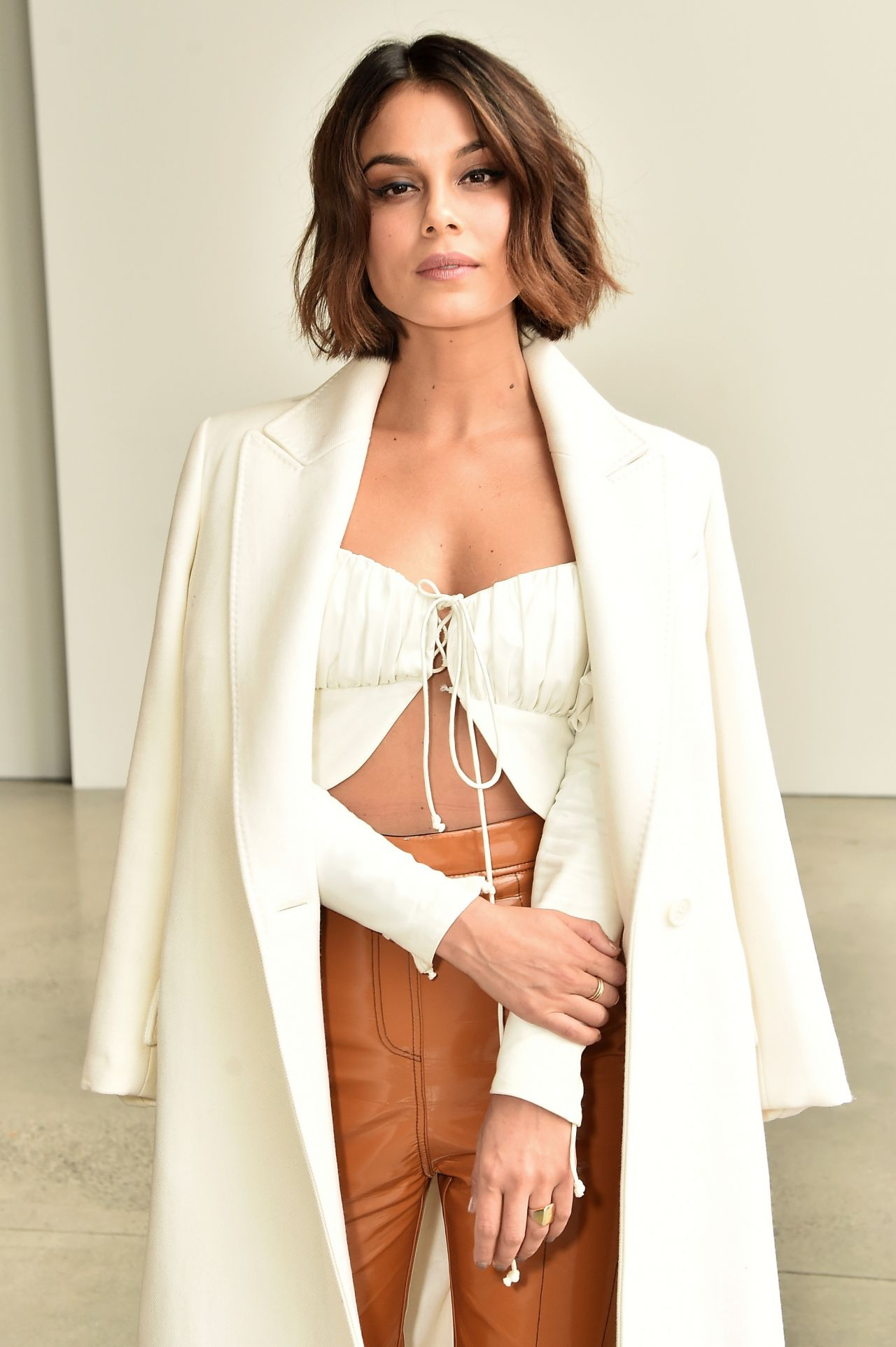 Nathalie Kelley At Dion Lee Fashion Show Nyfw 02 09 2018