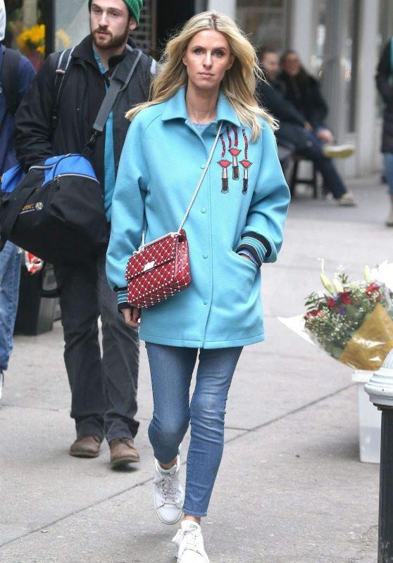 Nicky Hilton Street Style - New York City 02/14/2018