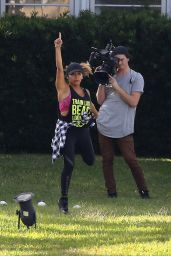 "Nicole Polizzi and Deena Cortese Filming ""Jersey Shore Family Vacation"" in Miami Beach"