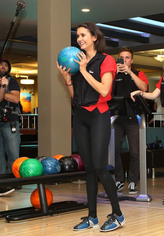 Nina Dobrev and Kellan Lutz - First Annual Mammoth Film Festival Bowling Tournament in Mammoth Lakes