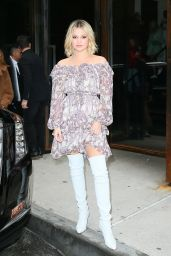 Olivia Holt - Leaving Zimmerman Fashion Show in New York City 02/12/2018