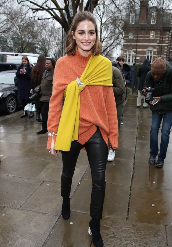 Olivia Palermo – Arriving to Christopher Kane Show at LFW 02/19/2018