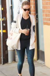 Olivia Wilde in Tights - Out in Los Angeles 02/13/2018