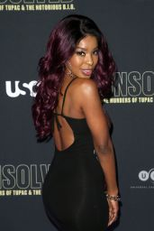 "Porscha Coleman – ""Unsolved The Murders of Tupac and The Notorious B.I.G."" TV Show Premiere in LA"