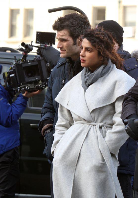 "Priyanka Chopra & Alan Powell - ""Quantico"" Set in NYC 02/20/2018"