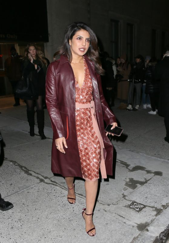 Priyanka Chopra Outside the Bottega Veneta Fashion Show in New York 02/09/2018