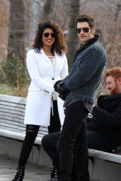 "Priyanka Chopra - ""Quantico"" Set in New York City 02/14/2018"