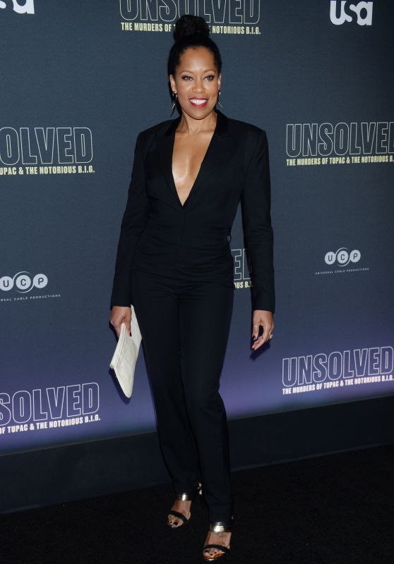 "Regina King – ""Unsolved The Murders of Tupac and The Notorious B.I.G."" TV Show Premiere in LA"