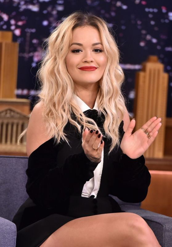 Rita Ora Appeared on The Tonight Show With Jimmy Fallon 01/31/2018