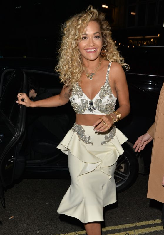 Rita Ora – Outside Warner Music Brits 2018 After Party