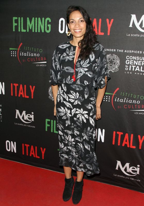Rosario Dawson - Social Justice Award - Filming on Italy Festival in Los Angeles