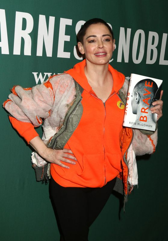 "Rose McGowan - Promotes Her New Book ""Brave"" in New York"