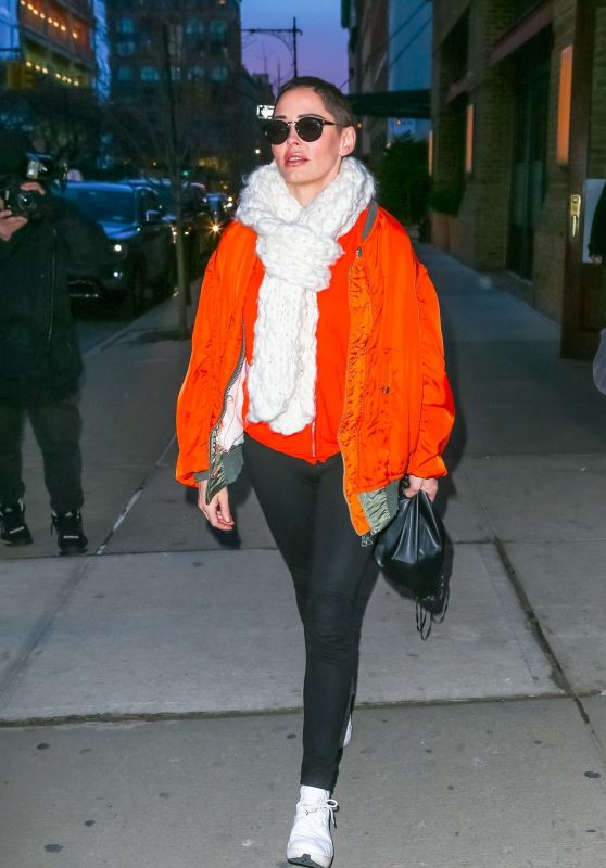 Rose McGowan Street Style - Out in New York 01/31/2018