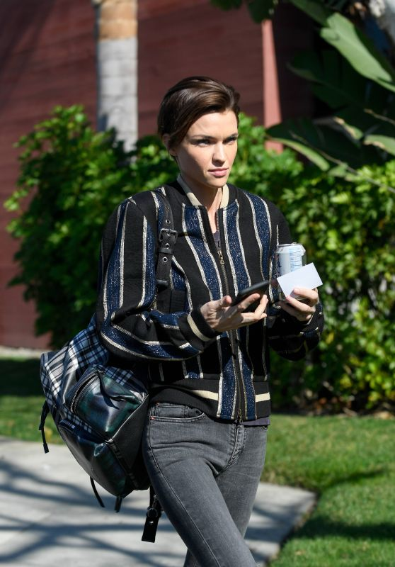 Ruby Rose in Casual Attire in Santa Monica 01/31/2018