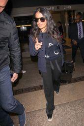 Salma Hayek at Los Angeles International Airport 02/19/2018