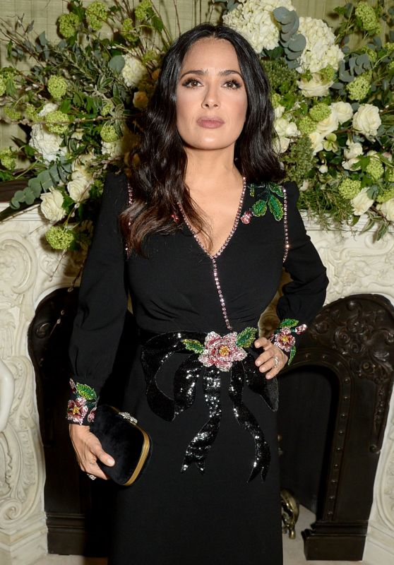 Salma Hayek – Vogue and Tiffany & Co Party in London