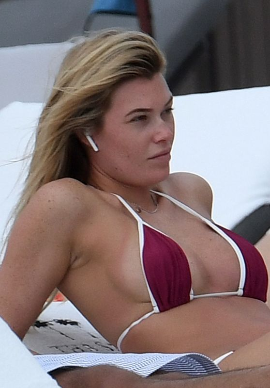 Samantha Hoopes in Bikini on the Beach in Miami