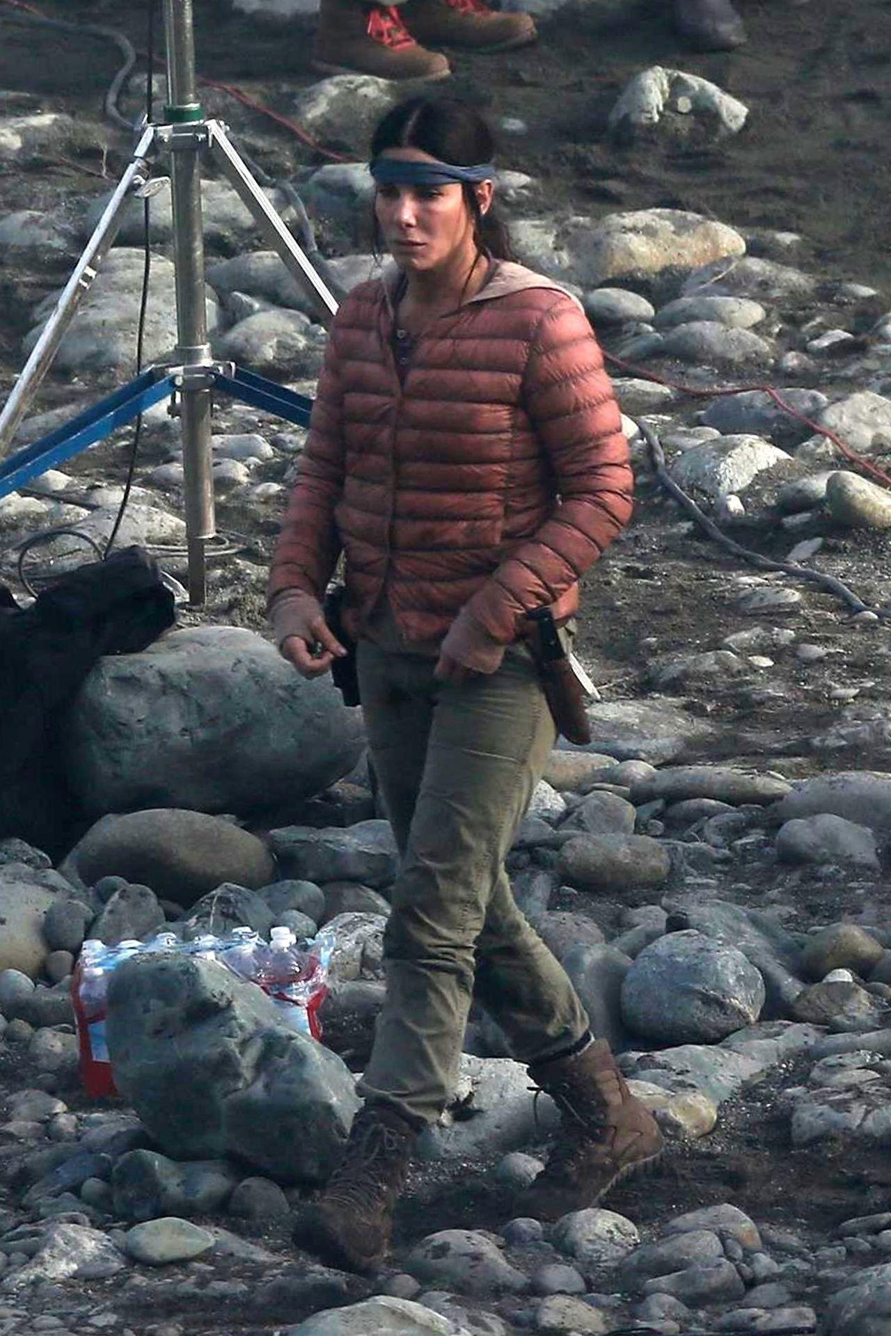 Sandra Bullock Filming...