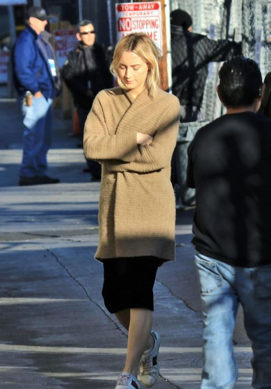 Saoirse Ronan Arriving to Appear on Jimmy Kimmel Live! in Los Angeles 02/23/2018
