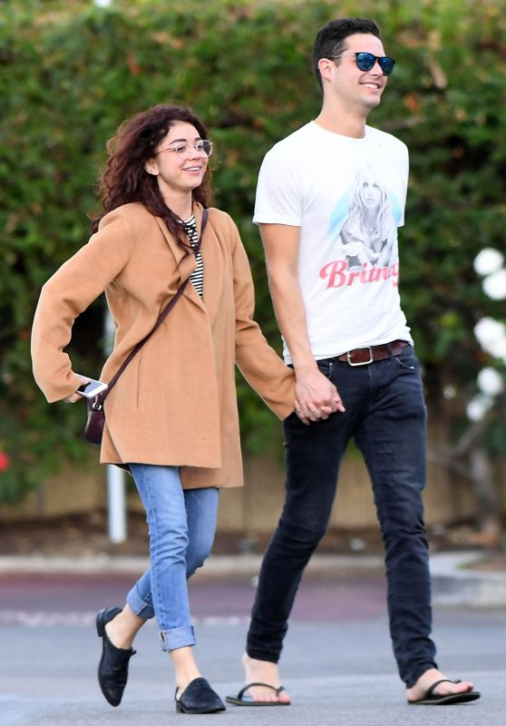 Sarah Hyland With Wells Adams - Heading to Gelson