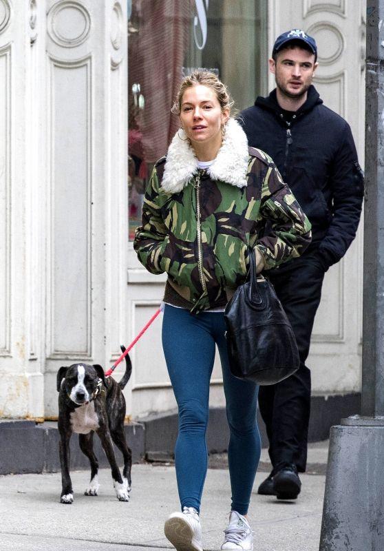 Sienna Miller and ex Tom Sturridge - Dog Walk Around the West Village, in NY 02/26/2018