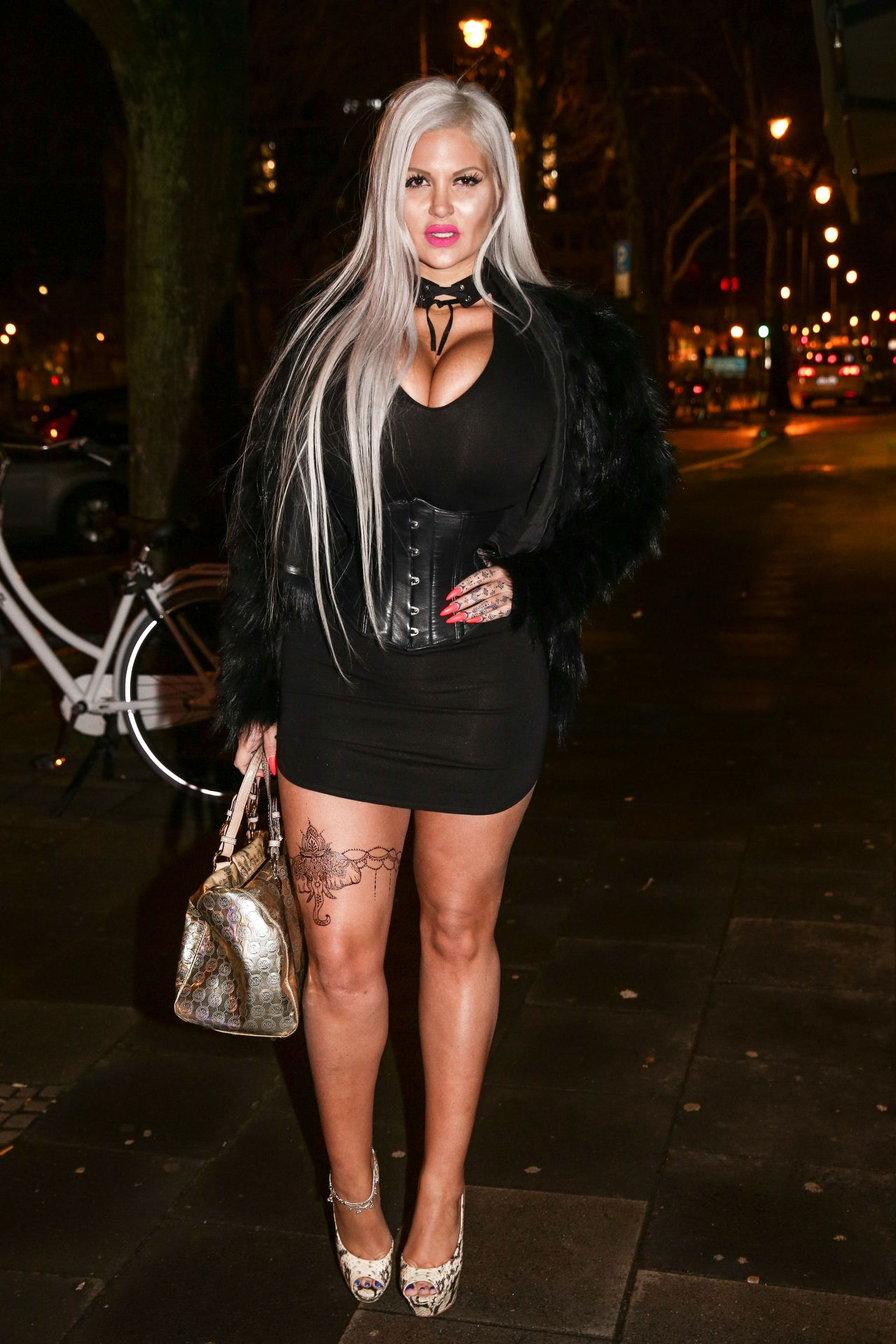 Sophia Vegas Wollersheim Out For Dinner In Cologne