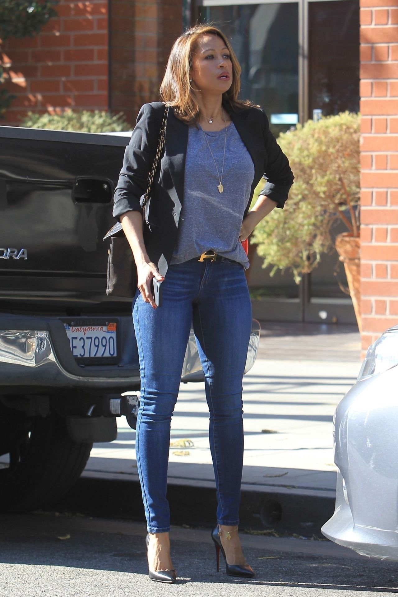 Stacey Dash Shopping In Beverly Hills 01 31 2018
