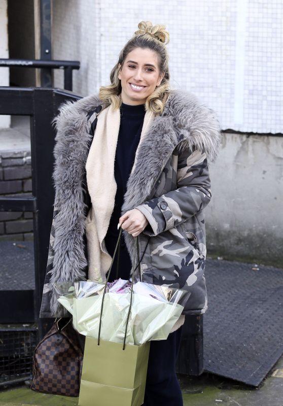 Stacey Solomon Leaving the ITV Studios in London 02/07/2018