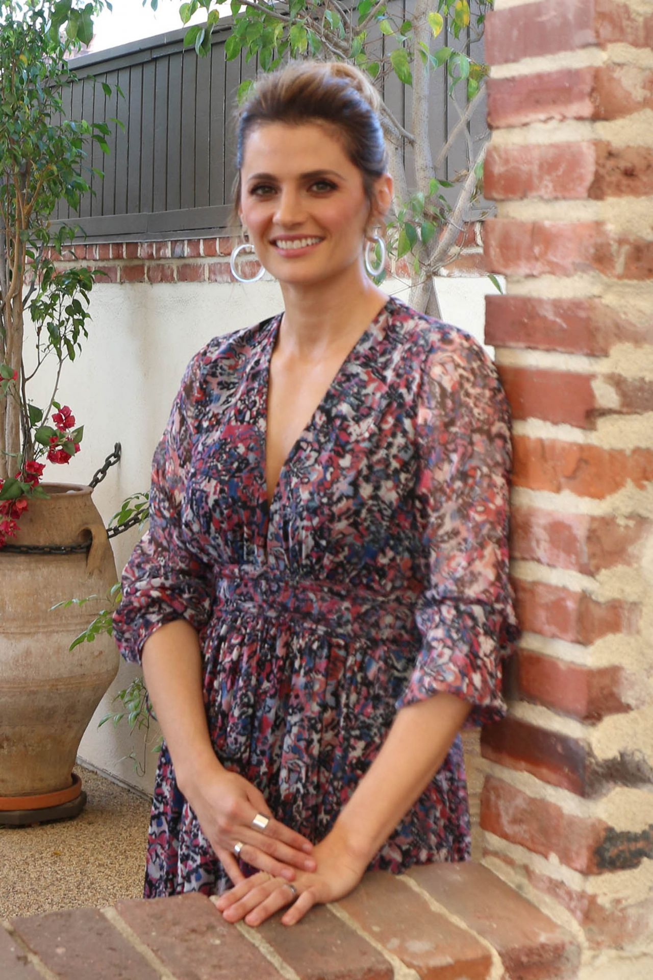 Stana Katic - Visits the HFPA Offices in Los Angeles