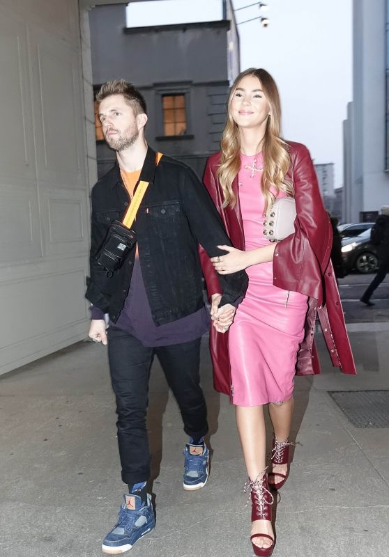 Stefanie Giesinger and Marcus Butler at Milan Fashion Week 02/23/2018