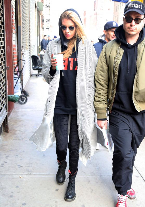 Stella Maxwell Street Style - New York City 02/13/2018