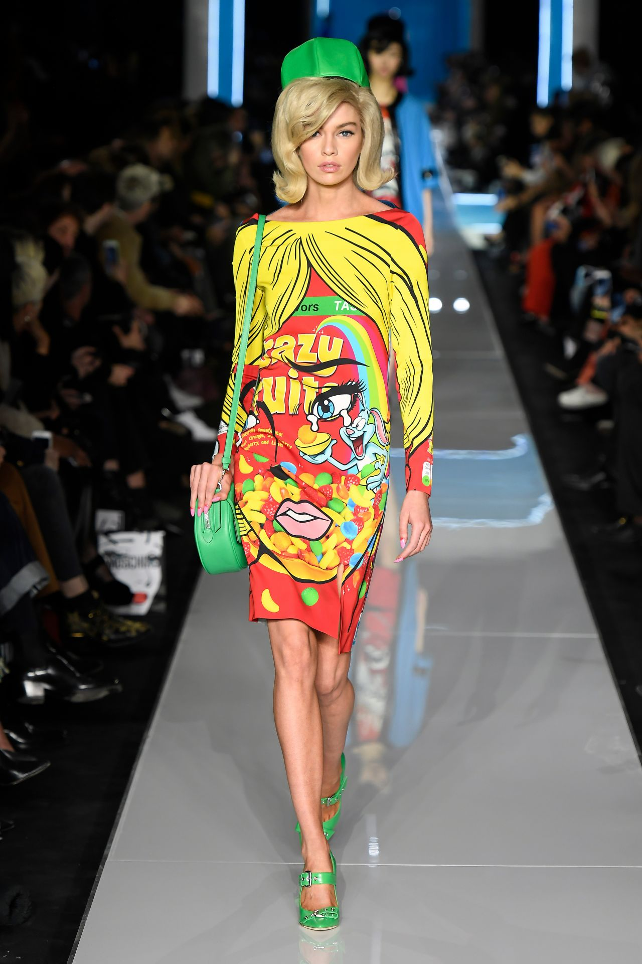 Stella Maxwell Walks Moschino Show Milan Fashion Week 02