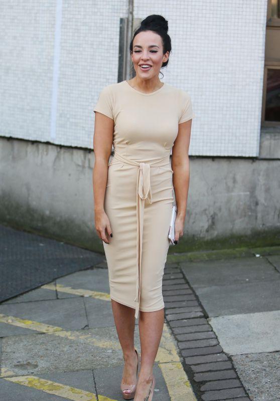 Stephanie Davis - Outside ITV Studios in London