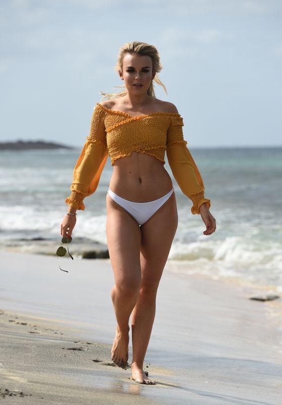 Tallia Storm in Bikini on the Beach in Cape Verde