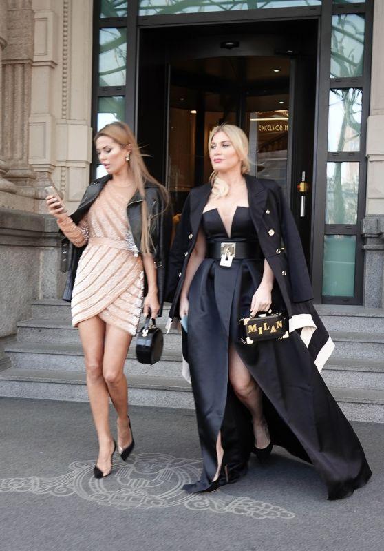Victoria Bonya and Hofit Golan at Milan Fashion Week 02/24/2018