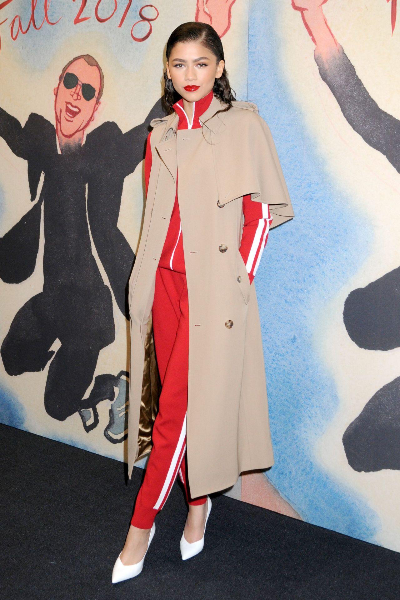 Zendaya Coleman Michael Kors Show Fw18 Nyfw