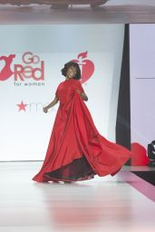 Zuri Hall Walks Runway for Red Dress 2018 Collection Fashion Show in NYC
