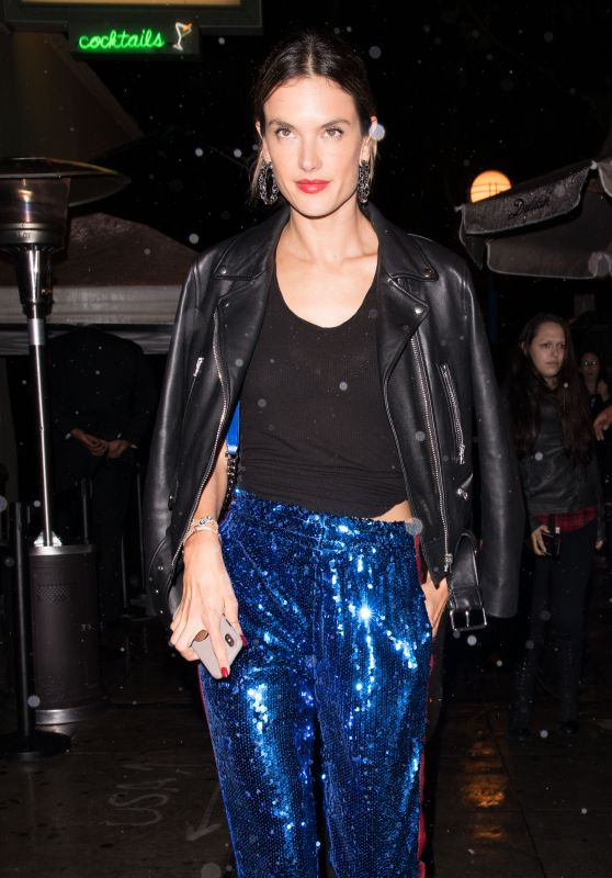 Alessandra Ambrosio – Leaving the Delilah Club in West Hollywood