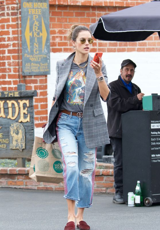 Alessandra Ambrosio - Shopping at Whole Foods in Los Angeles 03/20/2018