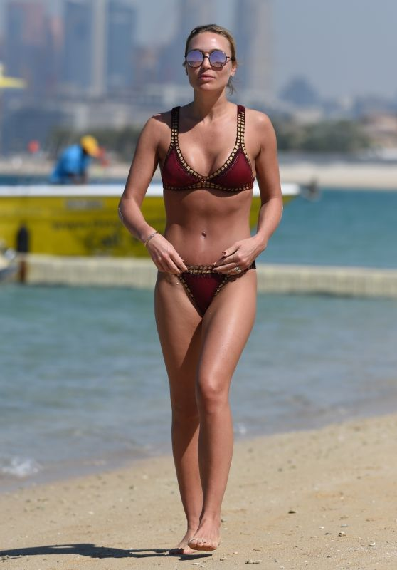 Alex Gerrard in Bikini on Beach in Dubai 03/16/2018