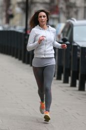 Alex Jones in Spandex - Jogging in London 03/05/2018