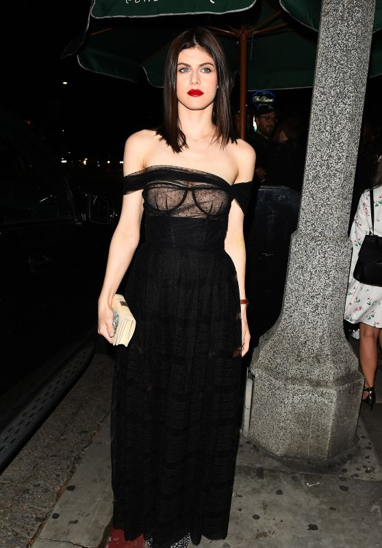 Alexandra Daddario - Dior Addict Lacquer Plump Event in LA