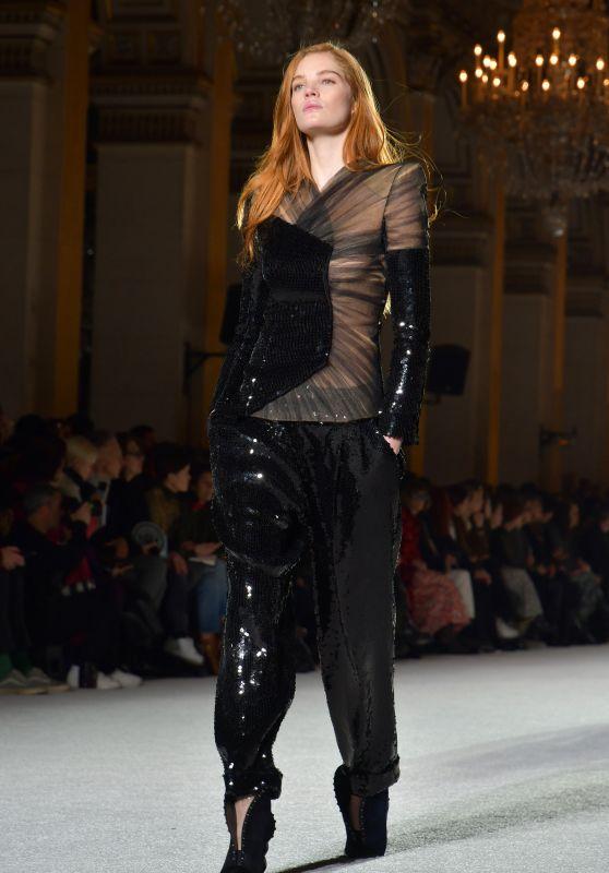 Alexina Graham Walks Balmain Show FW18 in Paris