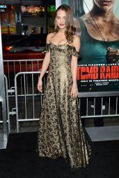 "Alicia Vikander - ""Tomb Raider"" Premiere in Hollywood"