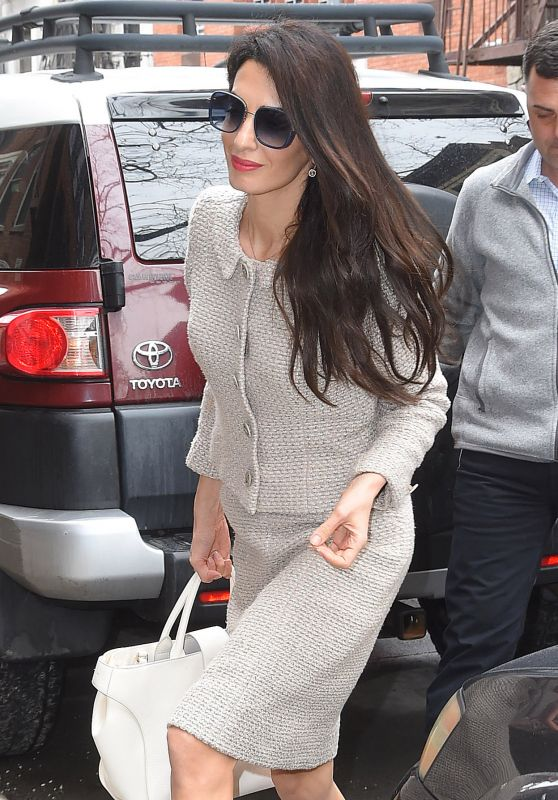 Amal Clooney is Stylish - Arrives Home in NY 03/29/2018