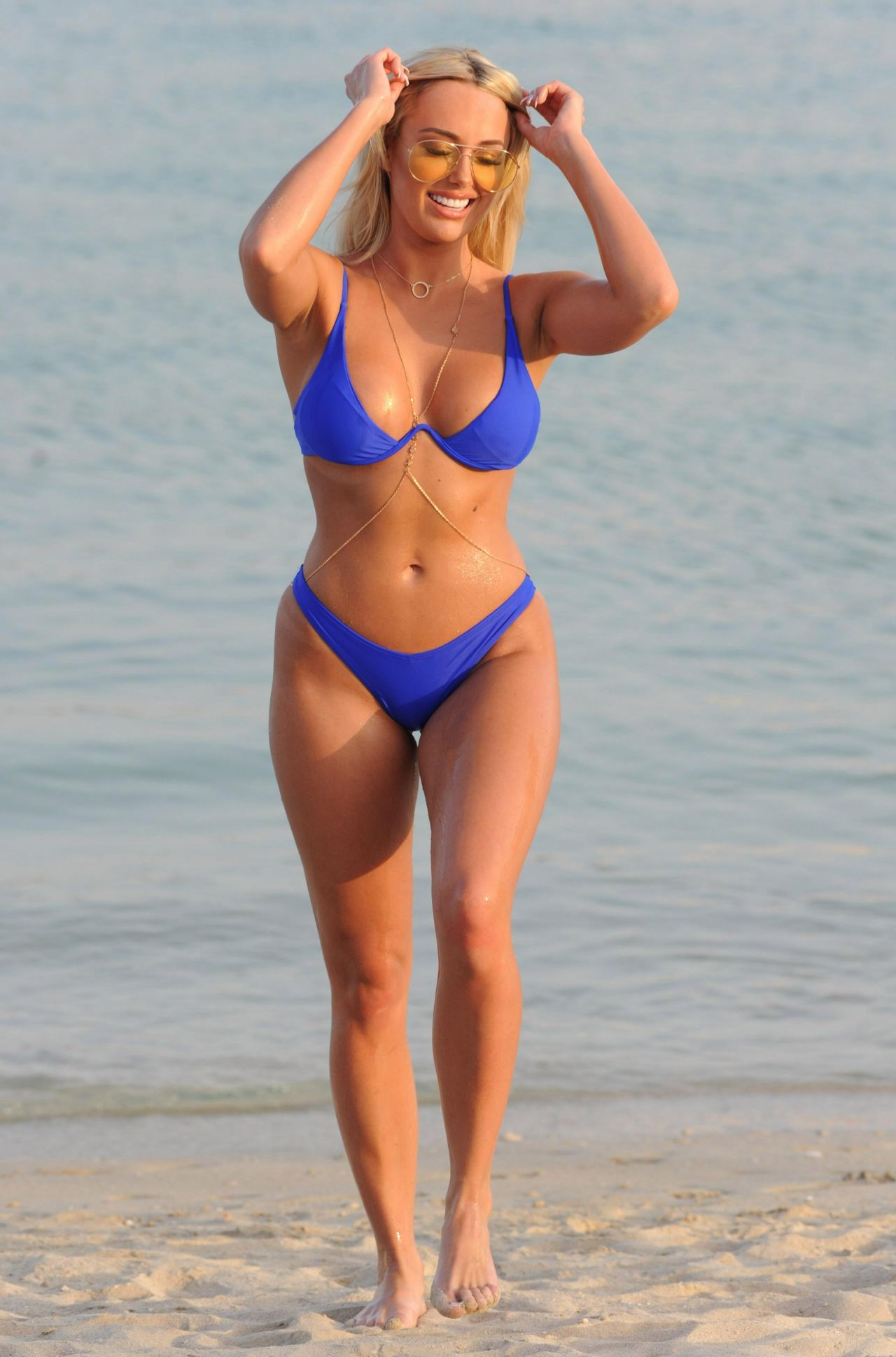 Amber Turner - Bikini On Beach In Dubai, March 2018-3411
